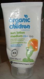 Green People sunscreen